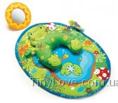 ЛЯГУШОНОК - развивающий игровой коврик с подушкой (Tummy-Time Fun - Frog Pillow & Mat, tiny love)