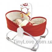 Мамина любовь, красная кроватка-качалка Tiny Love 3 в 1 до 18кг!